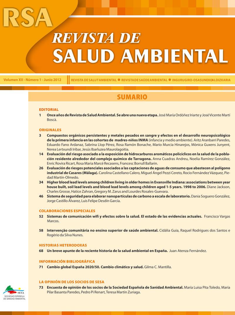 Rev. Salud Ambient. Vol 12, No 1 (2012)